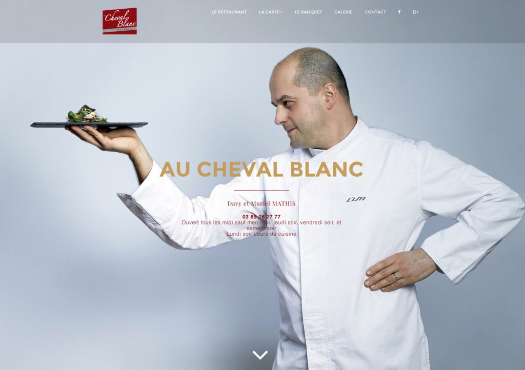cheval blanc, creation site internet