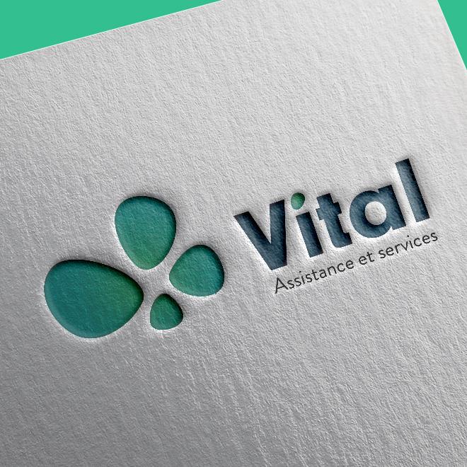Vital service création identité visuel et site web
